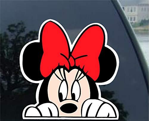 Minnie Maus Motiv Peeking Car Truck Decal -SMMP005- 12.70 cm, L - Maus-markt Minnie