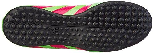 adidas - Ace 16.3 Primemesh Tf J, Scarpe da calcio Unisex – Bimbi 0-24 Verde / rosa / nero (Versol / Rosimp / Negbas)
