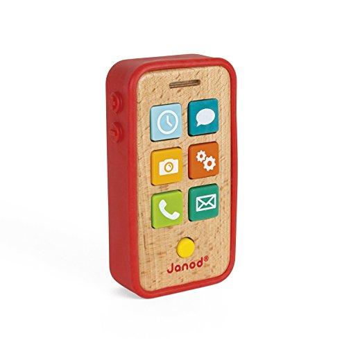 Janod-J05334 Teléfono sonoro, Multicolor (J05334)