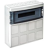 IDE PCSN18PT/RR Cajas Para Tomas De Corriente Con Tapas Pretroqueladas, IP65, 18 módulos