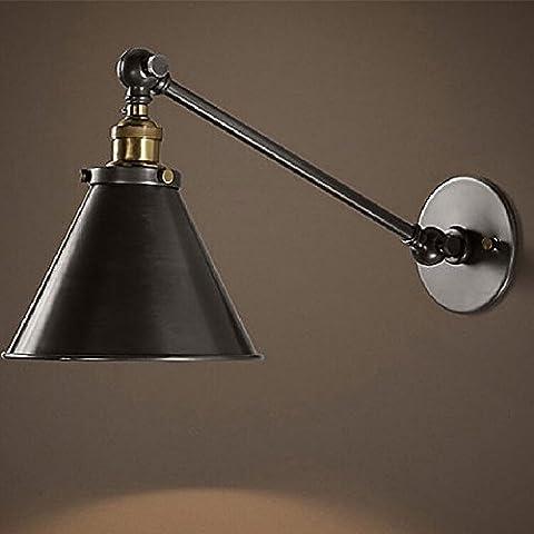 MSRRY American idilliaca campagna ferro Ombrello nero-luci da parete nordica
