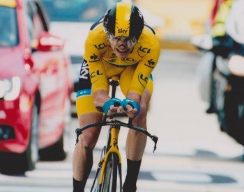 Chris Froome Tour de France ciclista 10 pollici da 8 pollici Picture - Fuji Road Bike