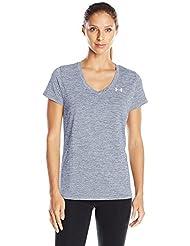 Under Armour Tech–Camiseta deportiva para mujer Aurora Purple fr:, mujer, color morado - violett - Aurora Purple, tamaño extra-small