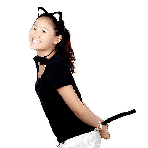 Sets Kostüm Kleid Up - sprigy (TM) New Halloween Requisiten Funny UP PARTY KLEID Zubehör Set Plüsch flauschig Katze Ohr Haar Bands Fliege Schwanz Tier Kostüm