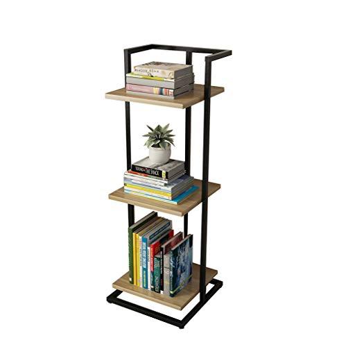 QIANGDA Bücherregal Bücherschrank 3 Stufen Stahlrahmen Bodenständig Blumenständer Veranstalter, 6 Farben, 30 X 30 X 84cm (Farbe : F)