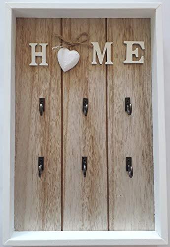 Abitrade home Schlüsselkasten Schlüsselbrett Home Sweet Home weiß Vintage Kasten