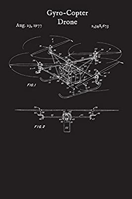 Gyro-Copter Drone: Quadcopter Journal - Model Aircraft Helicopter Log Book (Blank Lined Notebook)