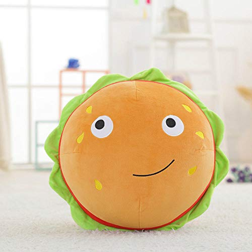 upupupup Plush Toys Soft Toys Personality Simulation Roasted Intestine Milk Tea Burger French Fries Pizza Food Eater Plush @Burger_48Cm
