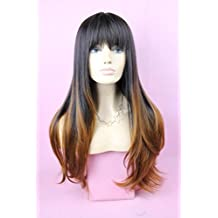 De punta larga diseño de Natural líneas rectas y pelo cuidado de la peluca llena sintética