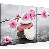 Runa Art Bilder Feng Shui 500131a Impression sur Toile Non tissée Format XXL Rose 120 x 80 cm...