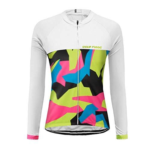 "Uglyfrog Damen Radfahren Langarm Radfahren Jersey Winter eine Menge Farben Antislip Ã""rmel Cuff Road Bike MTB Top Riding Shirt"