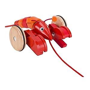 Goki-Juego Langosta 54904Tren con Animales de Peluche, Multicolor