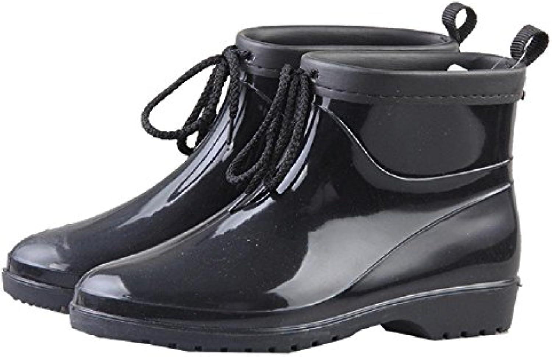 Alger Europa y América Moda Lluvia Botas PVC Señora Caliente Lluvia Zapatos, 24.5cm  -