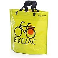 BIKEZAC® Clip-On BORSA della BICICLETTA (Maniglie Pannier Pieghevole Idrorepellente), BikeZac:Green - Biciclette Pannier