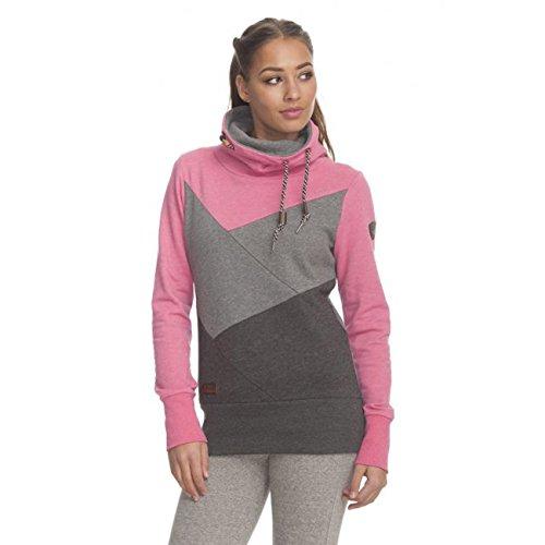 RW 172130023 Viola Block kuschliger Pulli mit Schlauch-Kragen, modischer Colour Block Style Rosa (pink-4043), EU xs
