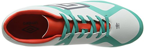 Umbro Velocita Iii Club Hg, Chaussures de Football Homme Multicolor (Dawn Blue/Carbon/Fiery Red/Spectra Green Epe)