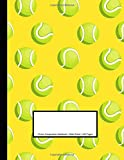 Tennis Composition Notebook: Wide Ruled | 100 Pages | One Subject Daily Journal Notebook | Tennis Balls Yellow