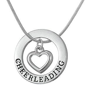LemAmazon Cheerleading Anhänger, verstellbare Halskette, Schmuck für Teenager, Mädchen und Frauen