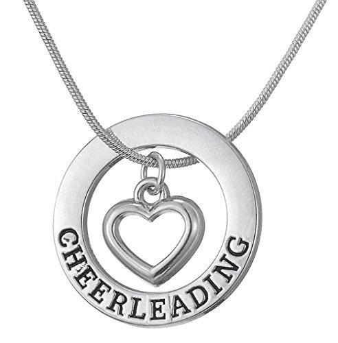 lemegeton Cheerleading Anhänger verstellbare Halskette Schmuck für Teen Mädchen Frauen