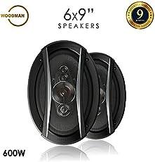 Woodman WM6954 6x9 600-Watt 5-Way Co-Axial Ca Speakers (Black)