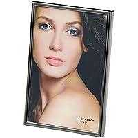Cornice portafoto Chloe, Metallo, Antracite, 10 x 15 cm