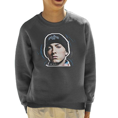 Sidney Maurer Original Portrait Of Eminem Shady Hat Kid's Sweatshirt