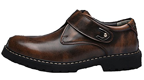 DADAWEN Homme Automne-Hiver Commercial Scratch Leather Chaussure Brun