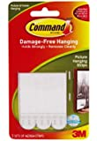 White 3 Sets/Pkg Command Medium Picture Hanging Strips 17201