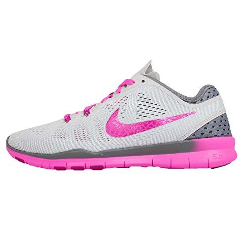 Nike W Free 5.0 Tr Fit 5 Brthe Damen Schuhe Sneaker Laufschuhe Grau (Grau/Rosa)
