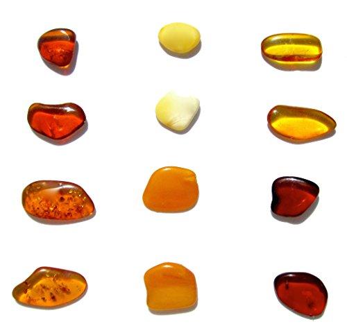 Genuino Ámbar - Piedras Planas - 12 Piedras