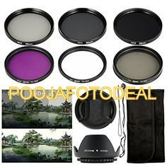 SHOPEE 58mm SAFTEY UV CPL FLD ND2 ND4 ND8 ND16 10PCS Filter Kit + lens hood + FOE CANON LENS CAP+ LENS CAP KEEPER HOLDER for CANON Rebel XT EOS 18-55mm 1100D 550D 600D 650D 700D 1000D 55-250MM LENS  available at amazon for Rs.999