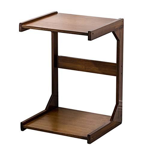 Lapdesks Teetisch Stilvoller Bambustisch Beweglicher Kleiner Couchtisch Kleines Sofa Mit Rundem Sofa Schlafzimmerbetttisch Aus Massivem Holz Nachttisch (Size : 35x37.5x63cm)