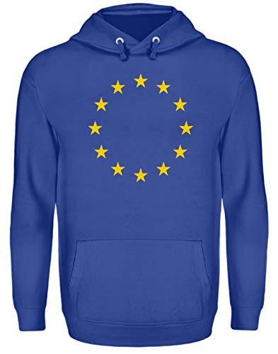 Support Europe in Style - EU Hoodie Flag | Stars Blau Fashion - Unisex Kapuzenpullover Hoodie -XL-Royalblau