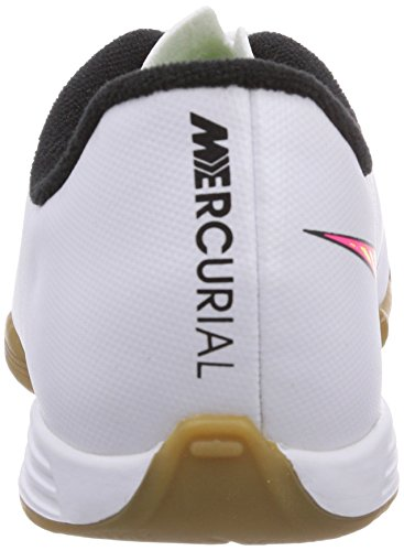 Nike Jr. Mercurial Vortex Ii Ic, Chaussures de football garçon Blanc - Weiß (White/Volt-Hyper Pink-Black)