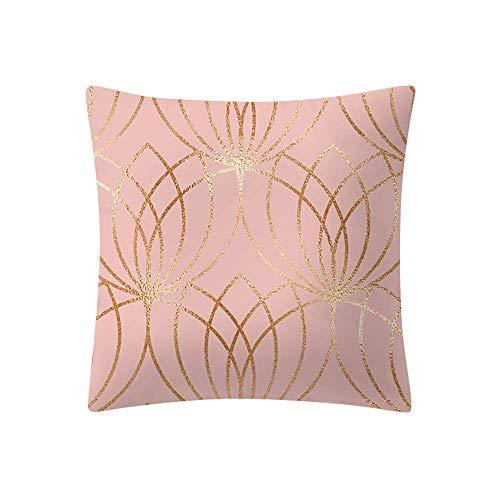 Eastery Yazidan Rose Gold Rosa Kissenbezug Platz Haus Dekoration Mikrofaser Einfache Einfacher Stil Farbe Protektoren Vier Jahreszeiten Werfen Abdeckungen Shell Dekorativ Weihnachten