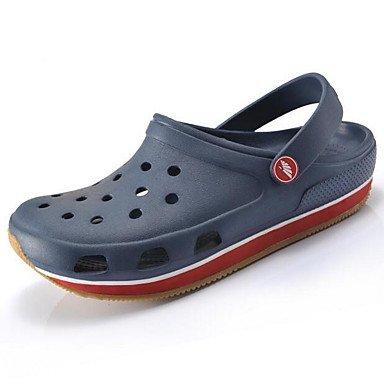 Uomini sandali foro estive Scarpe Casual in gomma,blu Blue