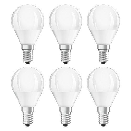 Osram LED SuperStar Classic P Lampe, in Tropfenform mit E14-Sockel, dimmbar, Ersetzt 40 Watt, Matt, Warmweiß - 2700 Kelvin, 6er-Pack