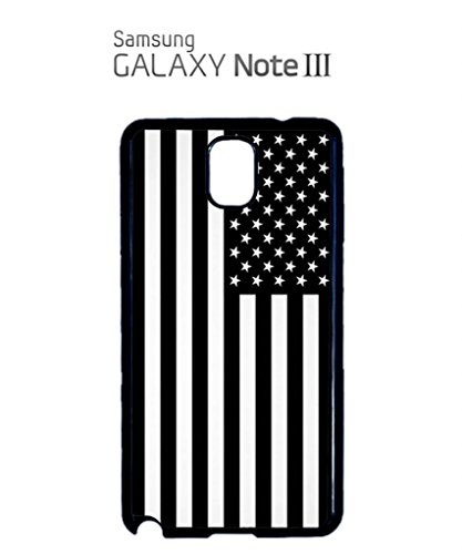 American Flag Black and White Mobile Cell Phone Case Samsung Galaxy S5 Black Blanc