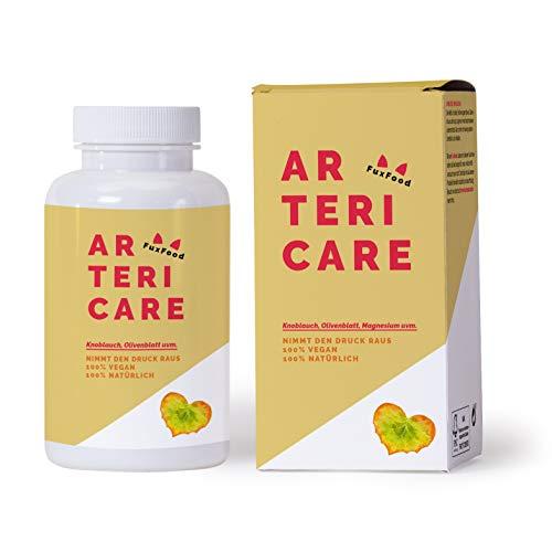 ArteriCare - Das 100% natürliche Kombi-Präparat bei Bluthochdruck | Pflanzenkraft anstatt chemischer Blutdrucksenker | 6 abgestimmte Zutaten (u.a. Knoblauch, Olivenblattextrakt, Q10) | 30-Tage-Paket -
