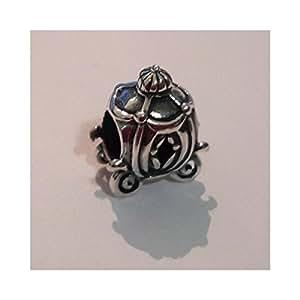 Perle Charm en forme de carrosse de Cendrillon pour détails Pandora Argent 925/1000–Perle Pandora breloque charms Disney