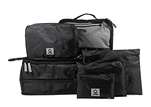 HAUPTSTADTKOFFER - Packhilfe - Koffer Reise-Organizer Set 6-teilig, mobiler Kleiderschrank + multifunktionale Packtasche (M), Kosmetiktasche, 3 kleine Utensilien-Taschen