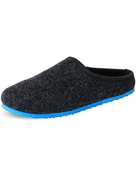 PantOUF Roubaix Zapatillas de Casa en Fieltro de Lana-Hombre/Mujer-Adulto (Talla pequeña)