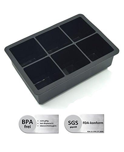 Preisvergleich Produktbild HTM Design XXL Eiswürfelform mit Deckel Zum Backen BPA Frei