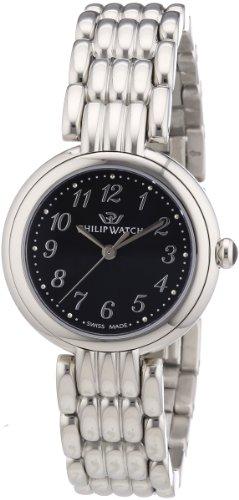Philip Watch R8253491503 - Reloj analógico de cuarzo para mujer con correa de acero inoxidable, color plateado