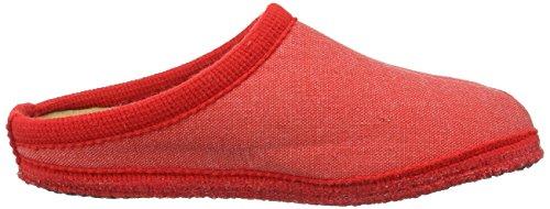 Haflinger Unisex-Erwachsene Kreta Pantoffeln Rot (Rubin) GPjmVta