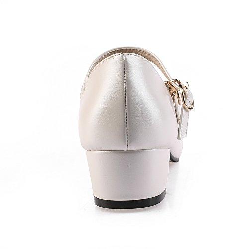 Balamasaapl10026 - Sandalias De Cuña De Mujer Blanca