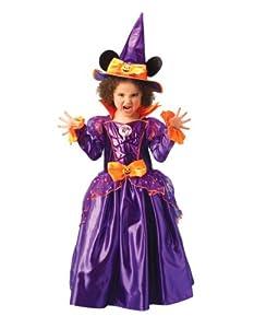 Disney - Disfraz de Minnie Mouse Bruja con sombrero para niña, infantil 7-8 años (Rubie