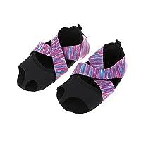 Alomejor Yoga Socks Yoga Shoes for Women Non-Slip Grips & Straps Suitable for Fintess, Gym, Running, Exercise, Pilates Non Slip Toeless Sport Shoes(L(39-40))
