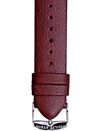 JP Leatherworks Leather Watchband Fits Philip Stein Large Size 2, 20mm Dark Chocolate Brown With Spring Bars
