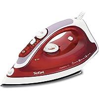 Tefal FV3741 MaestroFer Vapeur, 2 100W, débit vapeur 30g/min, effet pressing 95g/min, semelle en PTFE, rouge/blanc
